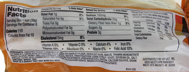 Hot Dog Buns Nutritional Information Ingredients